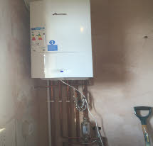 New gas central heating boiler fitted